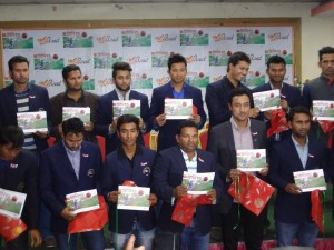 Nepal Cricket Team at book launch