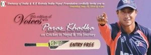 15th edition of Voices with Paras Khadka