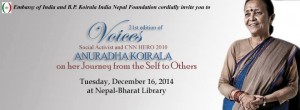Voices program with Anuradha Koirala